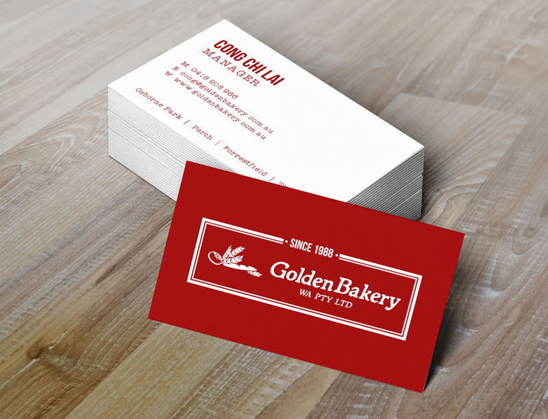 Golden Bakery Business Cards