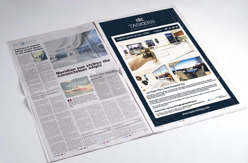 Taskers Newspaper Advertising